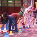 Learners taking part in Kids Kinetics 2