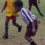 One of our learners in the soccer team